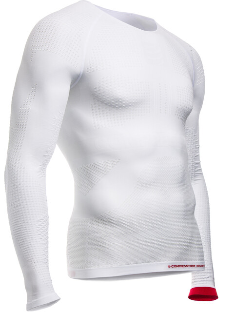 Compressport On/Off Multisport - T-shirt manches longues running Homme - blanc